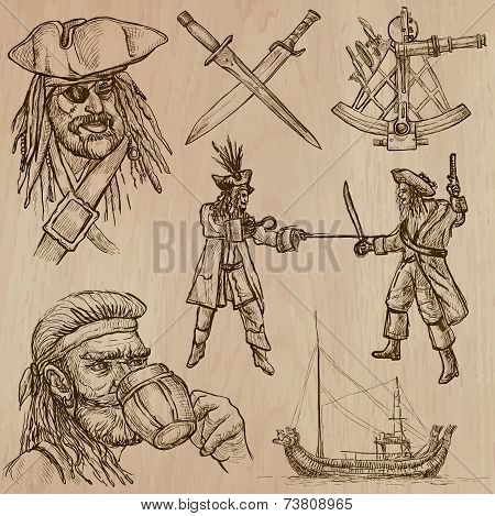 Pirates An Hand Drawn Vector Pack