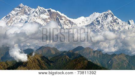 View Of Annapurna Himal From Jaljala Pass