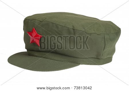 Chinese Mao Style Cap Isolated On White