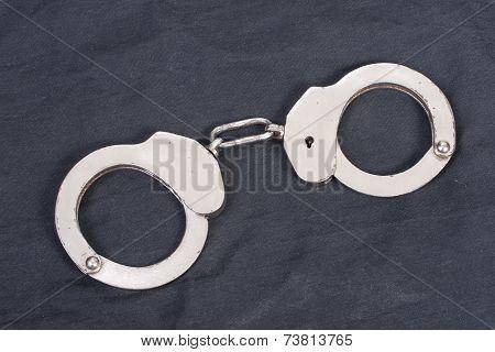 Handcuffs On Black