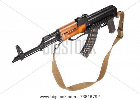 Assault rifle AK 47 isolated on white background