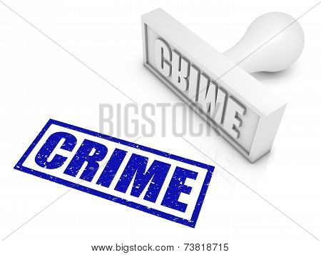 Crime Rubber Stamp