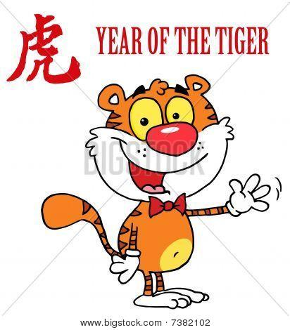 einen Gruß schwenkte Tiger