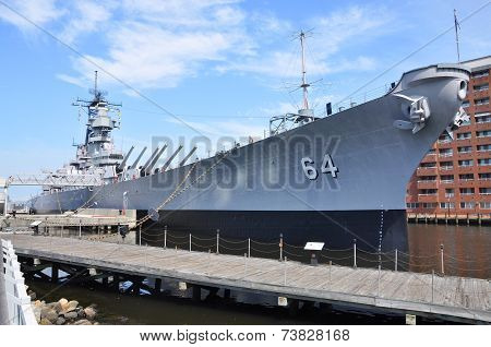 USS Wisconsin Battleship, Norfolk