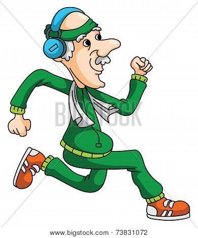 Old Man Jogging