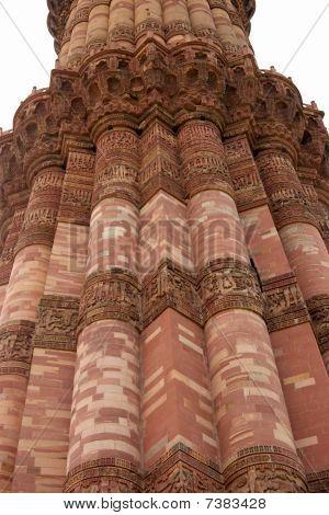Qutb Minar Tower Close-up, Delhi, India