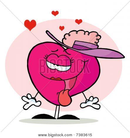 Lady Heart In A Fancy Hat