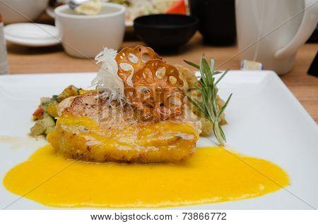 Pork Chops With Pumpkin Sauce