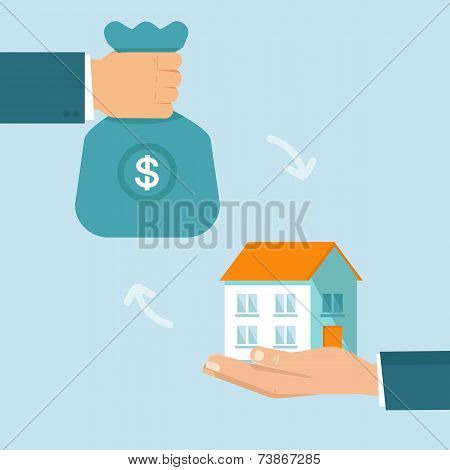 Vector real estate concept in flat style