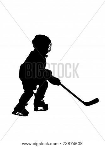 Silhouette Of  Hockey Player