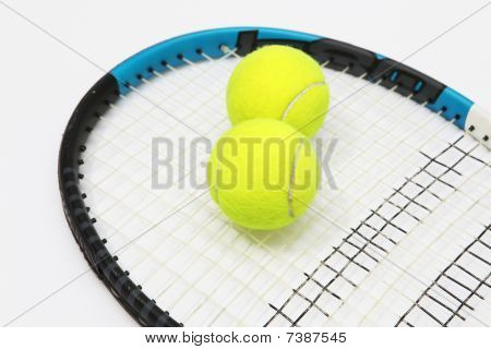 tennis on a white background