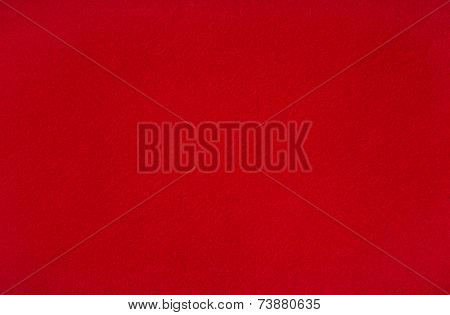 Nice red woolen baize