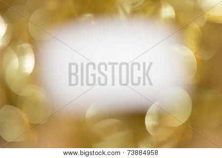 White On Gold Sparkles