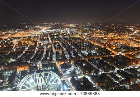 Boston Back Bay at night, Boston, USA