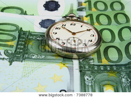 Clock and euro
