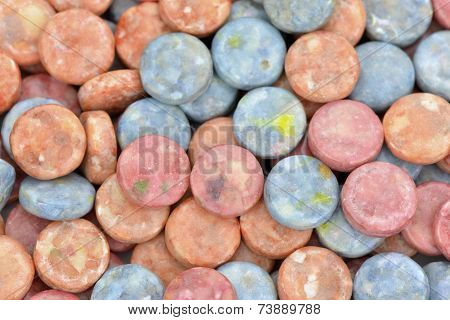 Red And Blue Chewing Candies