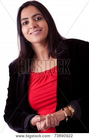 Beautiful Indian Woman In Business Attire