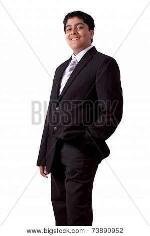 Indian Teenager In A Suit