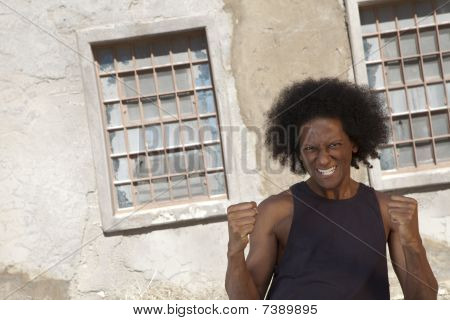 Eccentric Man With Afro