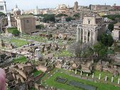 this is a photo of part of the  roman forum poster