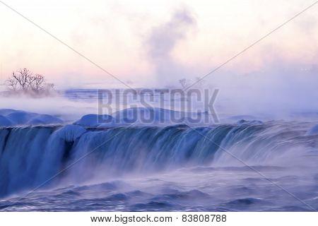 Misty WInter Morning at Niagara Falls