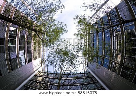 Modern Buildings In Munich, Germany. Business Concept