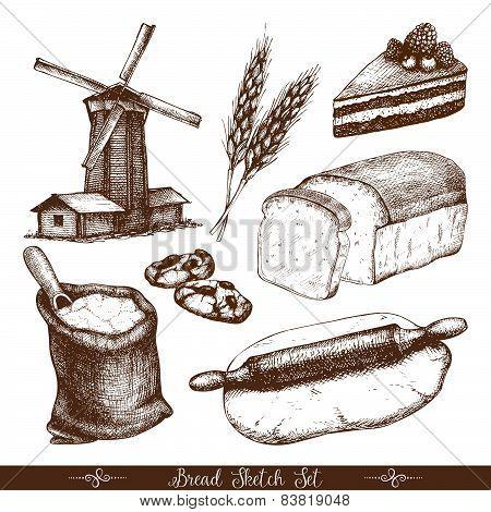 Vintage bakery sketch.