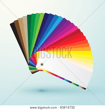 developed color swatches palette with bright colors poster
