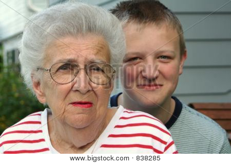Grandmother Grandson Portrait 2