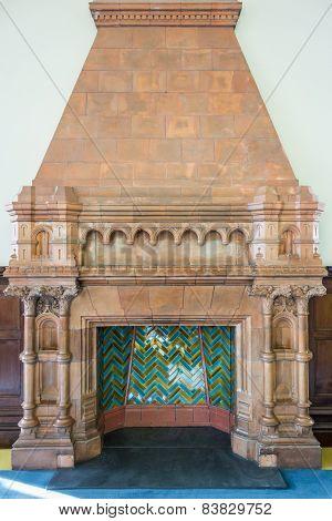 Old Ornate Fireplace