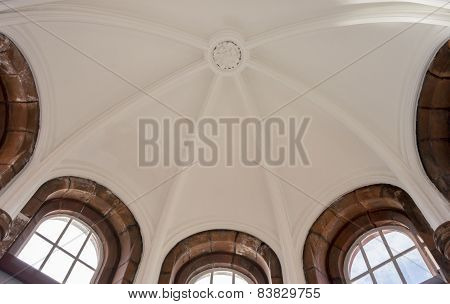 White Domed Ceiling With Windows