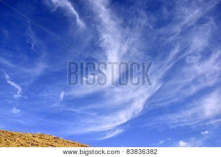 Cirrus Clouds Over Negev Desert