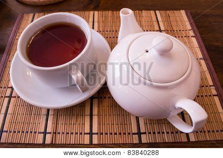 White Tea And Tea Cup.