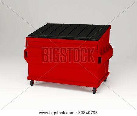Red trashbox.