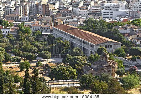 Stoa of Attalos at the ancient agora of Athens, Greece