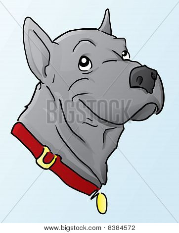 Great Dane Cartoon