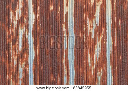 Rusted galvanized iron roof plate