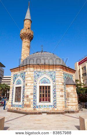 Ancient Camii Mosque On Konak Square In Izmir, Turkey