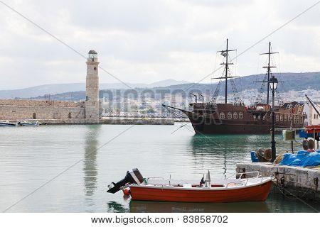 Lighthouse Of Rethymno, Crete, Greece