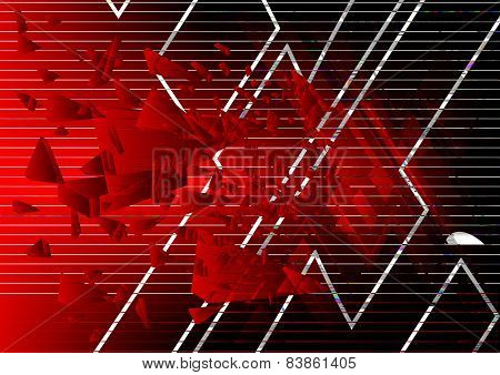 Abstract X symbol Background