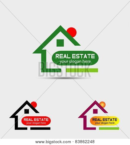 Real estate property logo
