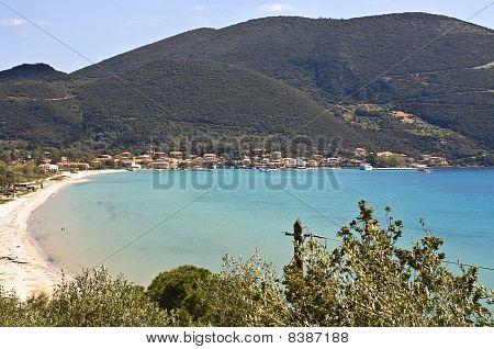 Port of Vasiliki at Lefkada island, Greece