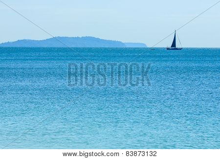 Yacht in the sea