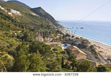 Kathisma beach at Lefkada island, Greece