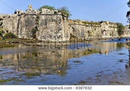 Castle of Ayia Mavra at Lefkada island, Greece poster
