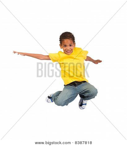 active african boy jumping