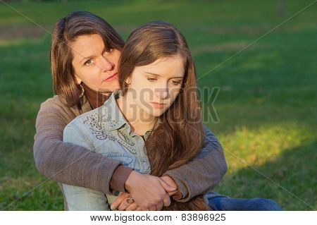 Mother With Sad Daughter
