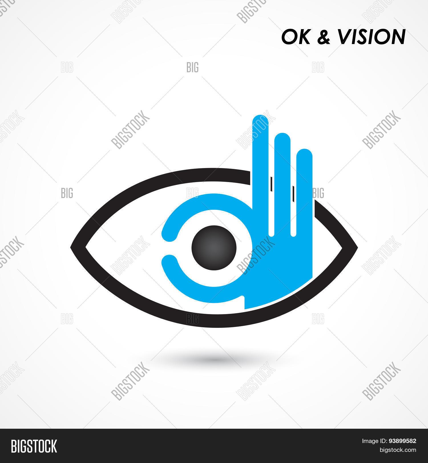 Ok Hand Eye Sign Vector Photo Free Trial Bigstock