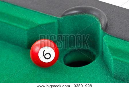 Red Snooker Ball - Number 6