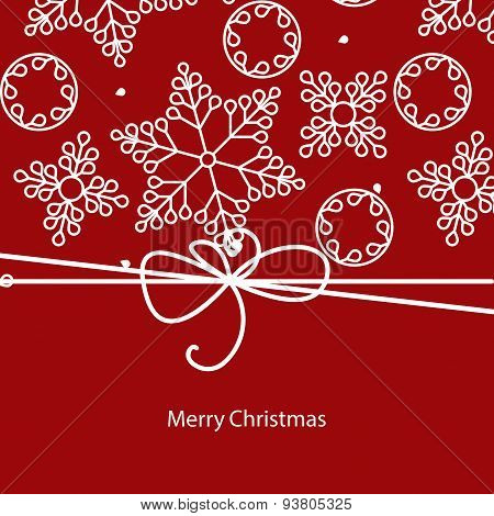 vector banner with snowflakes Merry Christmas card